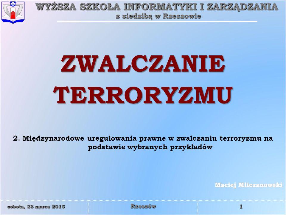 ZWALCZANIE TERRORYZMU