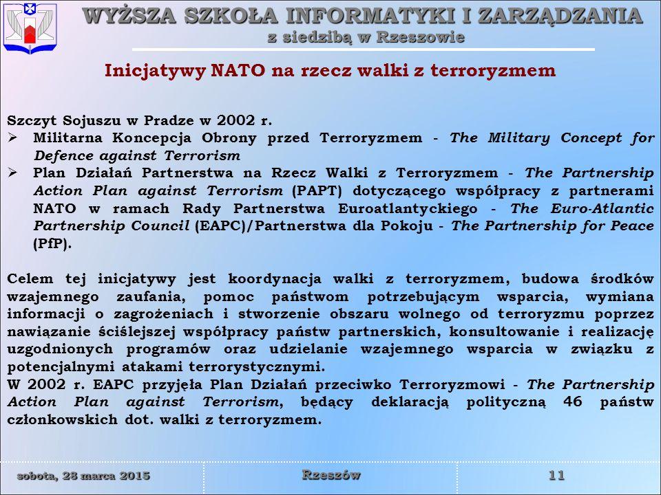 Inicjatywy NATO na rzecz walki z terroryzmem