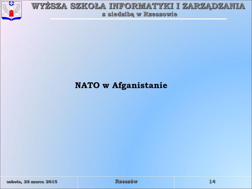 NATO w Afganistanie