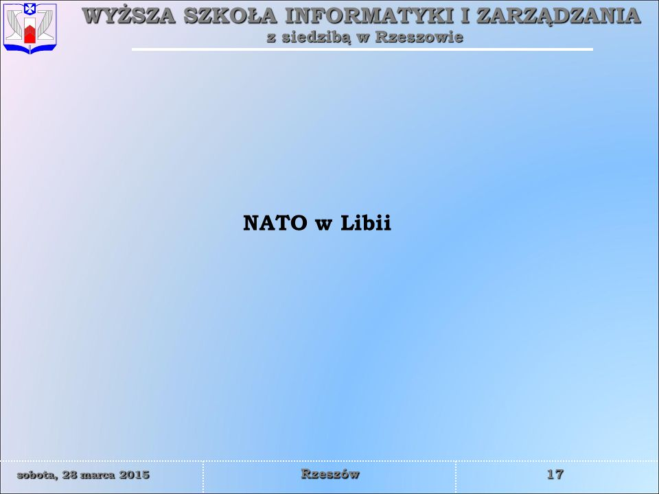 NATO w Libii