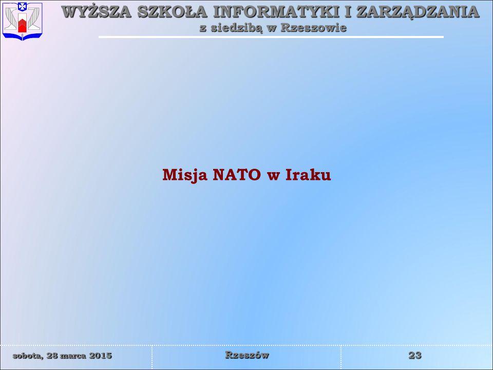 Misja NATO w Iraku