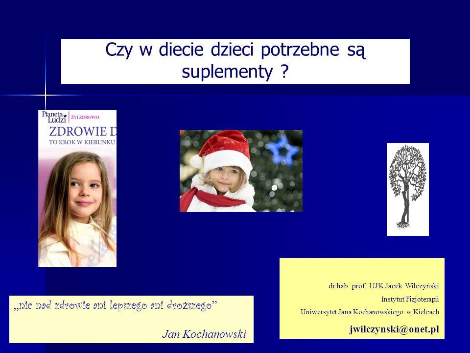 Czy w diecie dzieci potrzebne są suplementy