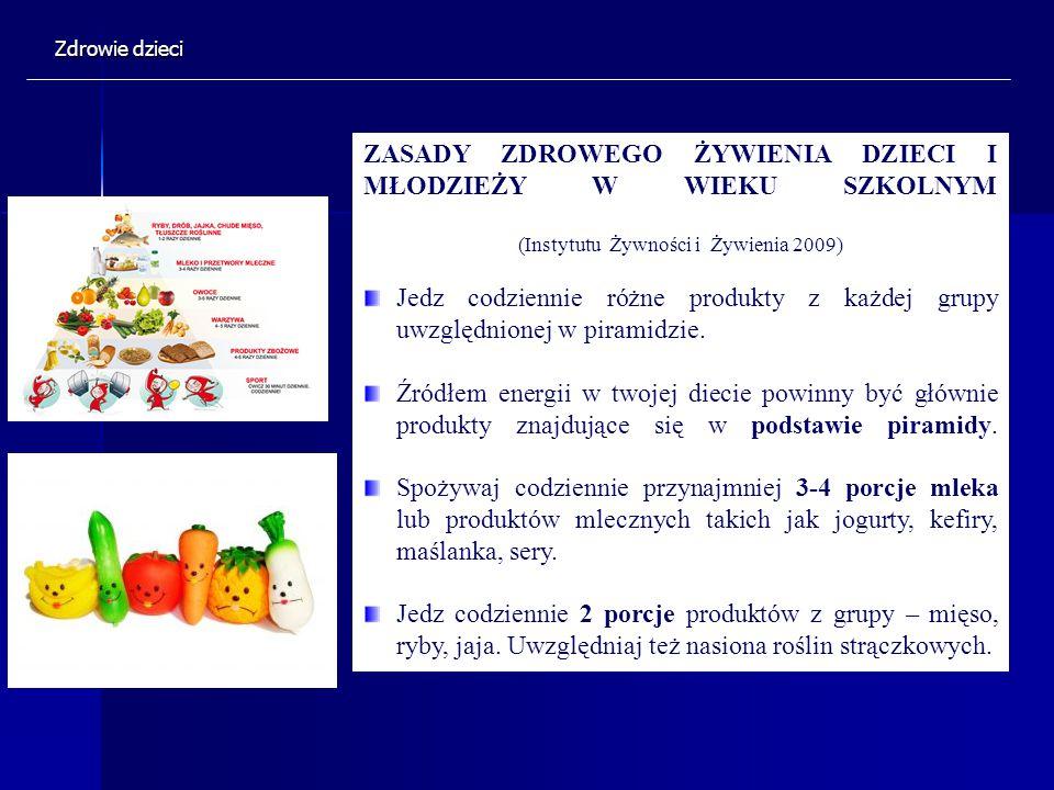 (Instytutu Żywności i Żywienia 2009)