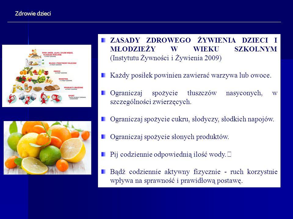 Każdy posiłek powinien zawierać warzywa lub owoce.