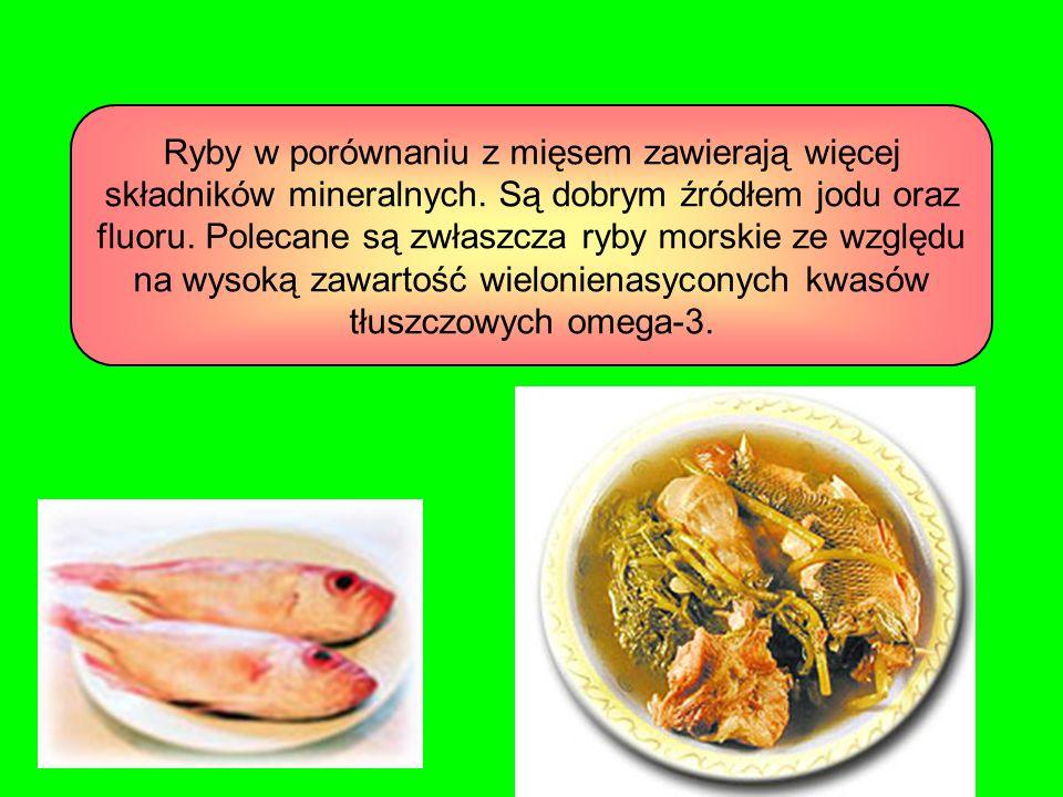 Ryby w porównaniu z mięsem zawierają więcej składników mineralnych