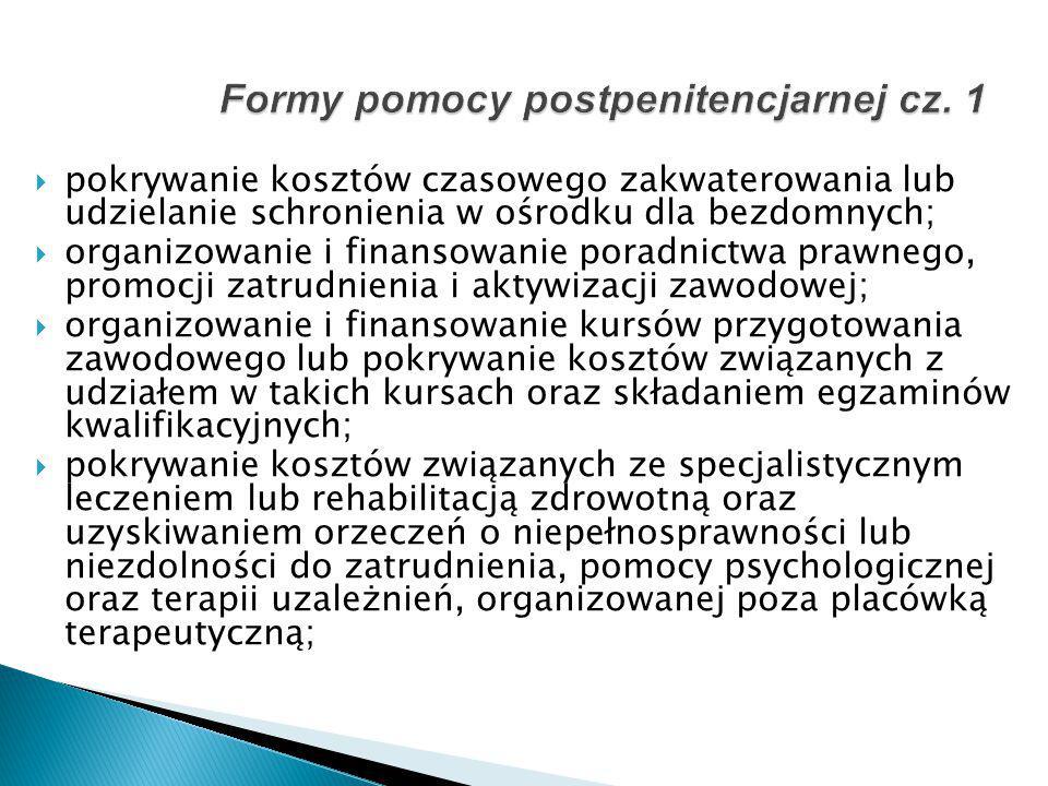 Formy pomocy postpenitencjarnej cz. 1
