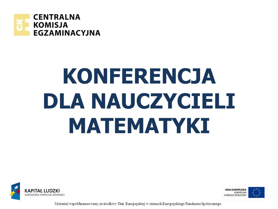 KONFERENCJA DLA NAUCZYCIELI MATEMATYKI