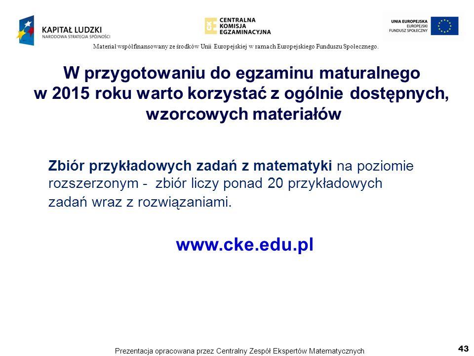 www.cke.edu.pl W przygotowaniu do egzaminu maturalnego