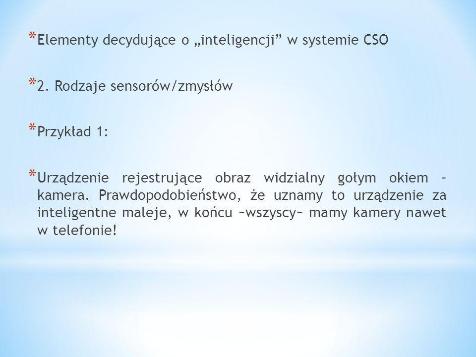 """Elementy decydujące o """"inteligencji w systemie CSO"""