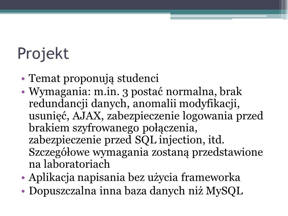 Projekt Temat proponują studenci