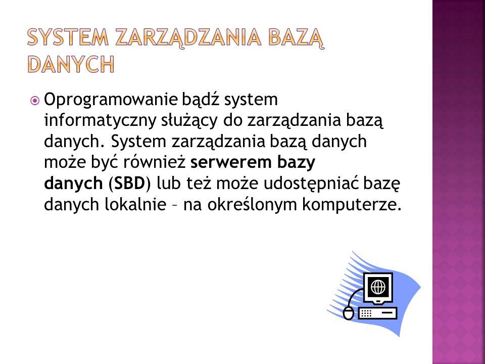 System zarządzania bazą danych