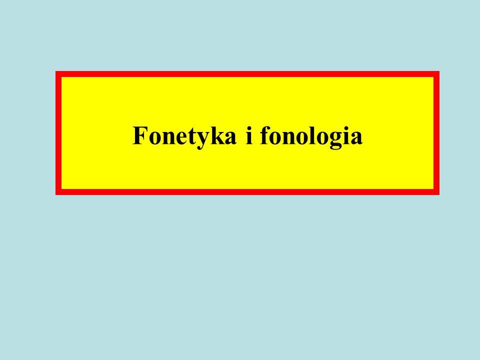 Fonetyka i fonologia