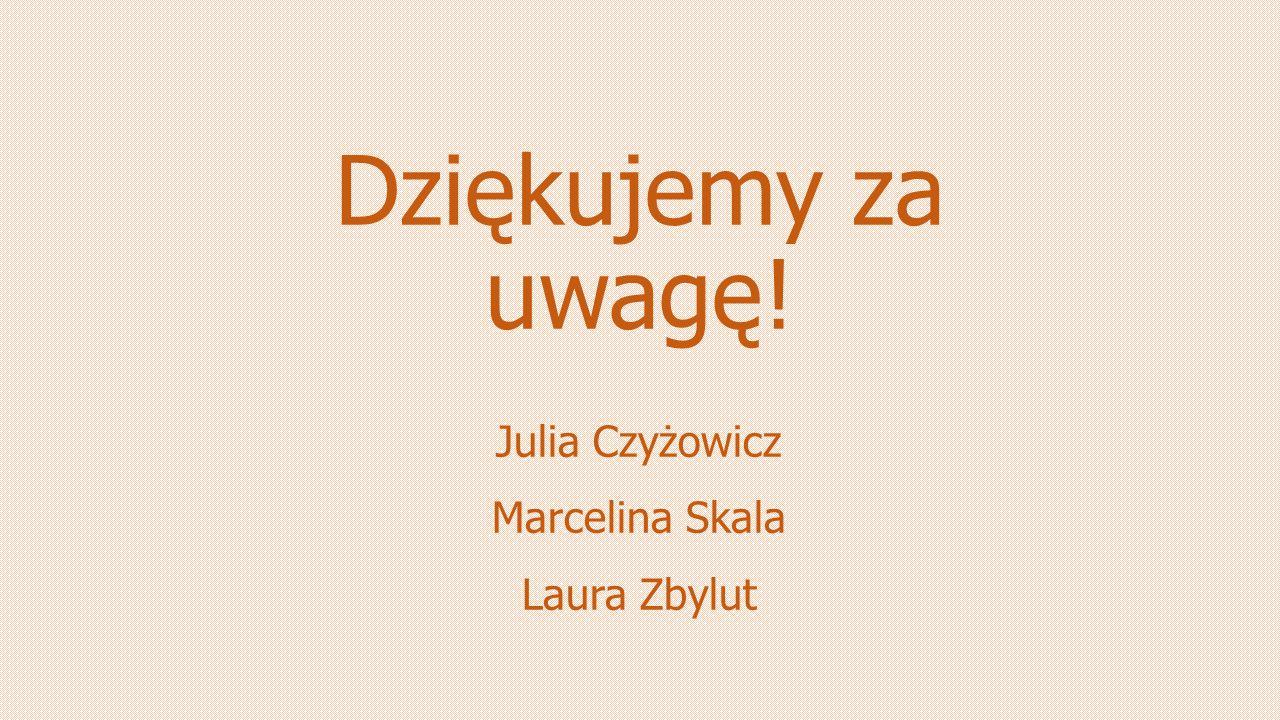 Julia Czyżowicz Marcelina Skala Laura Zbylut