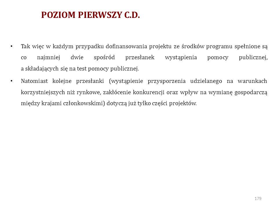 POZIOM PIERWSZY C.D.