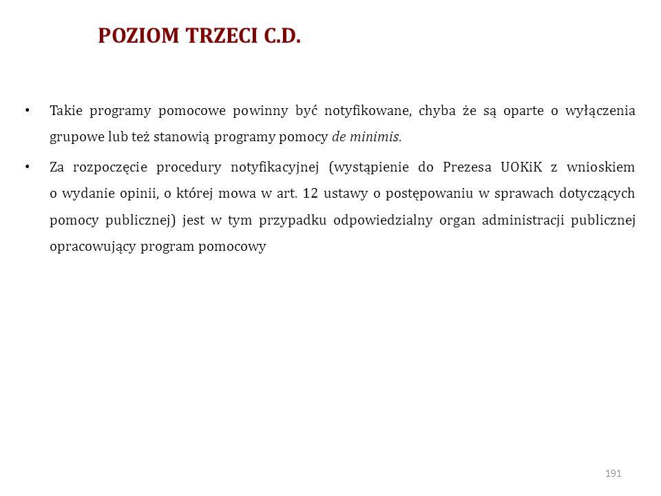 POZIOM TRZECI C.D.