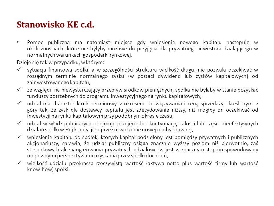 Stanowisko KE c.d.