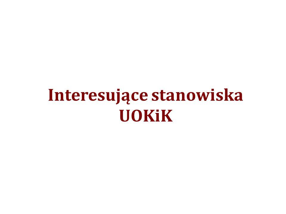 Interesujące stanowiska UOKiK