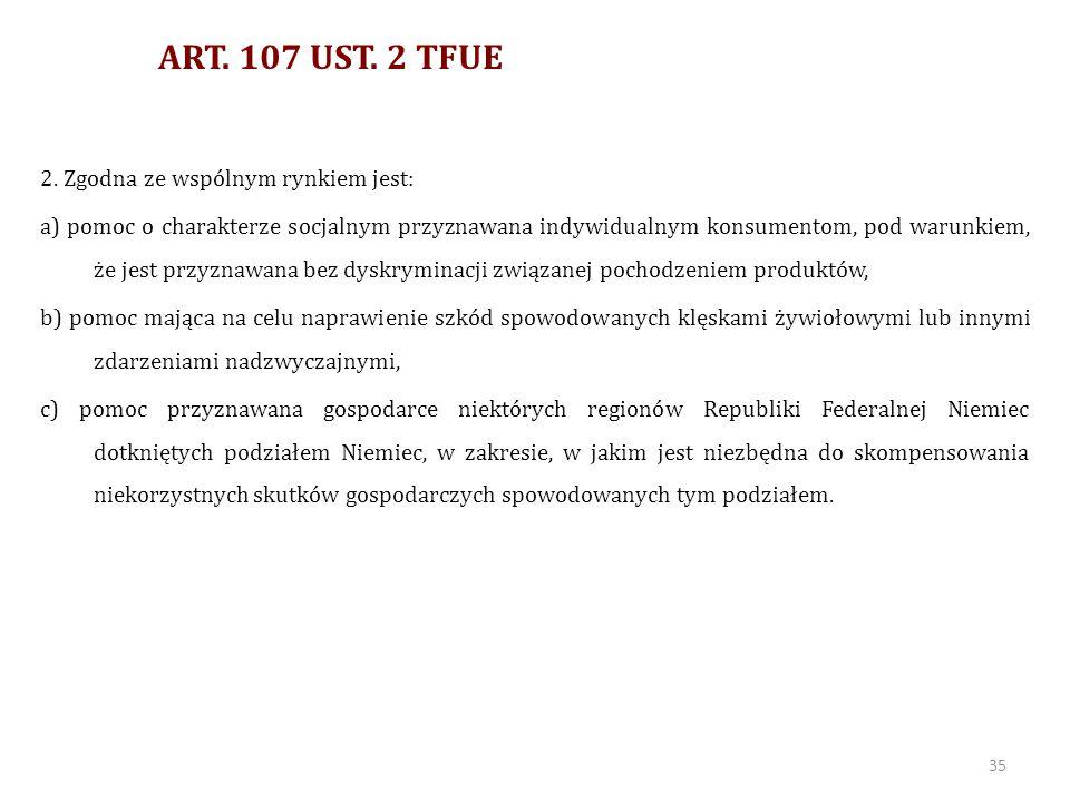 ART. 107 UST. 2 TFUE