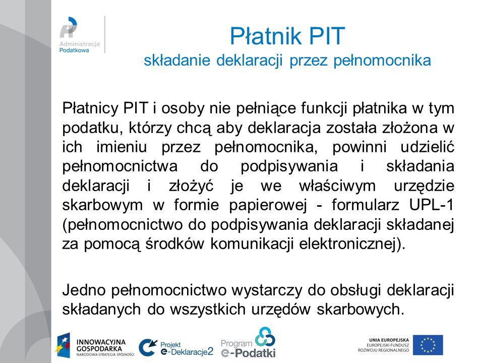 Płatnik PIT składanie deklaracji przez pełnomocnika