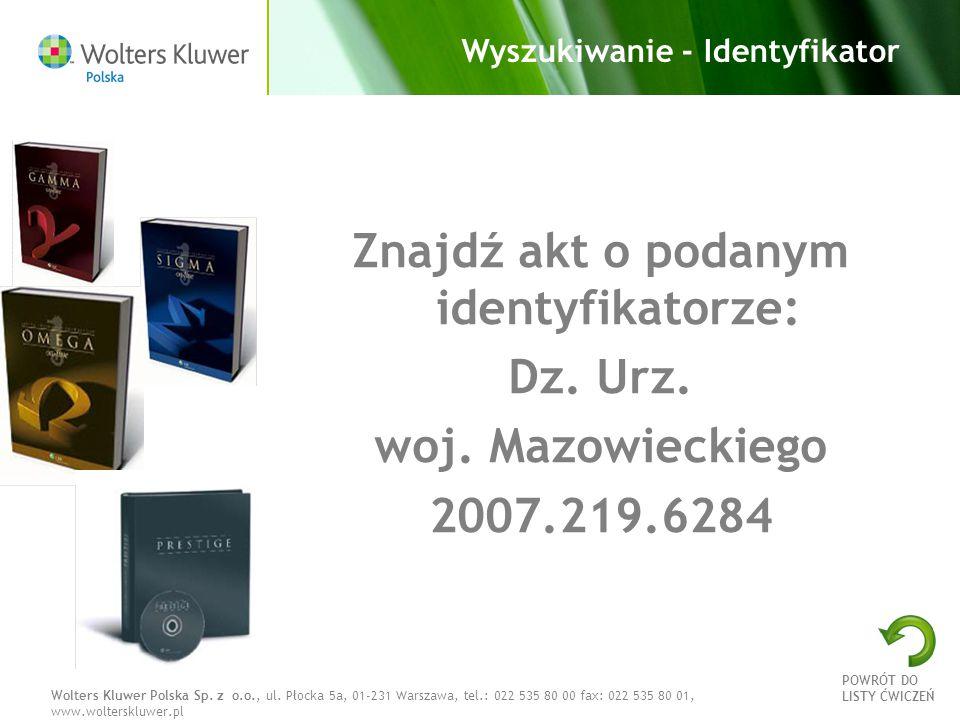 Wyszukiwanie - Identyfikator
