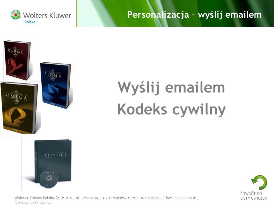 Personalizacja – wyślij emailem