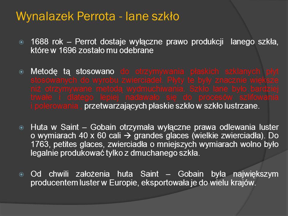 Wynalazek Perrota - lane szkło