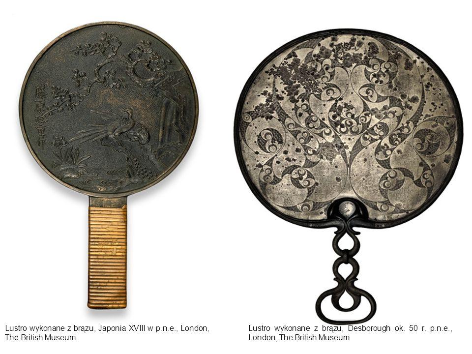 Lustro wykonane z brązu, Japonia XVIII w p. n. e