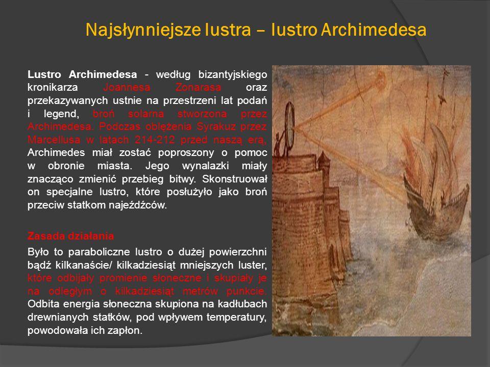 Najsłynniejsze lustra – lustro Archimedesa