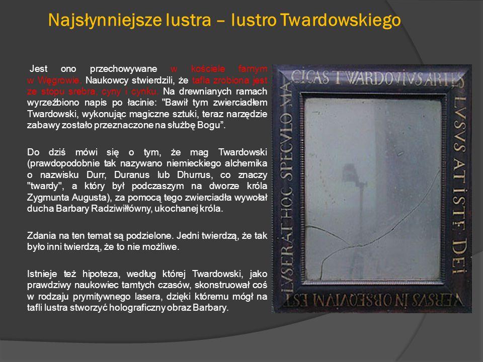 Najsłynniejsze lustra – lustro Twardowskiego