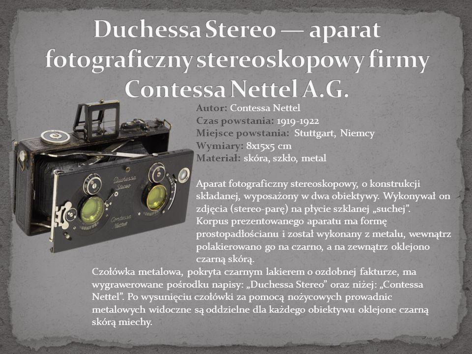 Duchessa Stereo — aparat fotograficzny stereoskopowy firmy Contessa Nettel A.G.