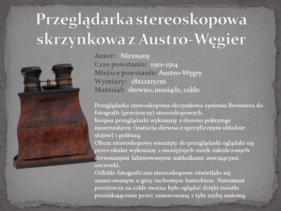 Przeglądarka stereoskopowa skrzynkowa z Austro-Węgier