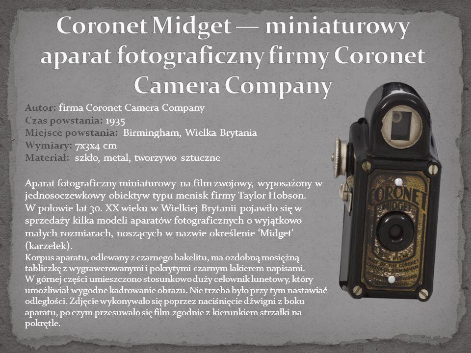 Coronet Midget — miniaturowy aparat fotograficzny firmy Coronet Camera Company