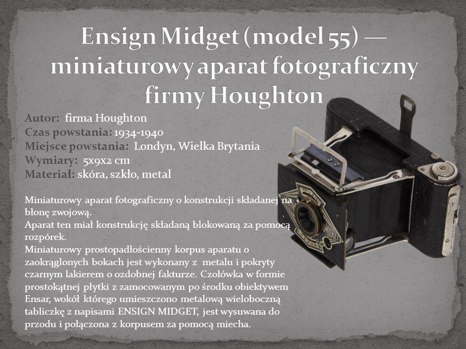Ensign Midget (model 55) — miniaturowy aparat fotograficzny firmy Houghton