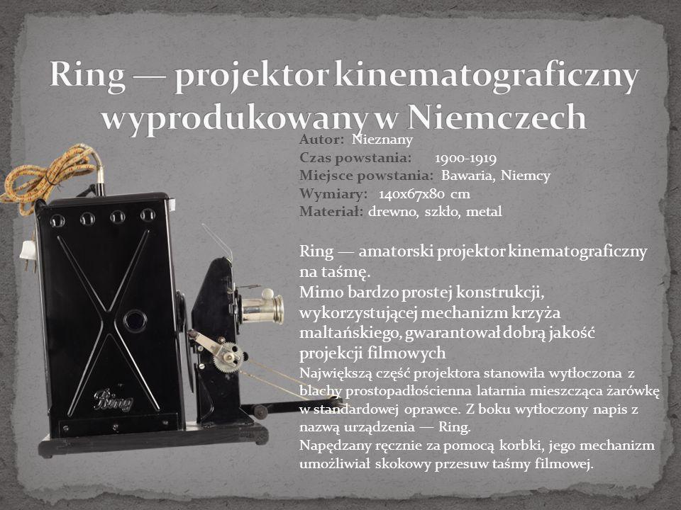 Ring — projektor kinematograficzny wyprodukowany w Niemczech