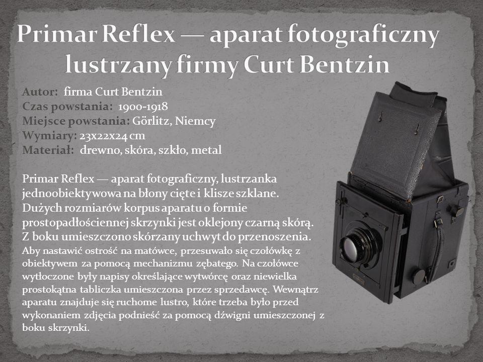 Primar Reflex — aparat fotograficzny lustrzany firmy Curt Bentzin