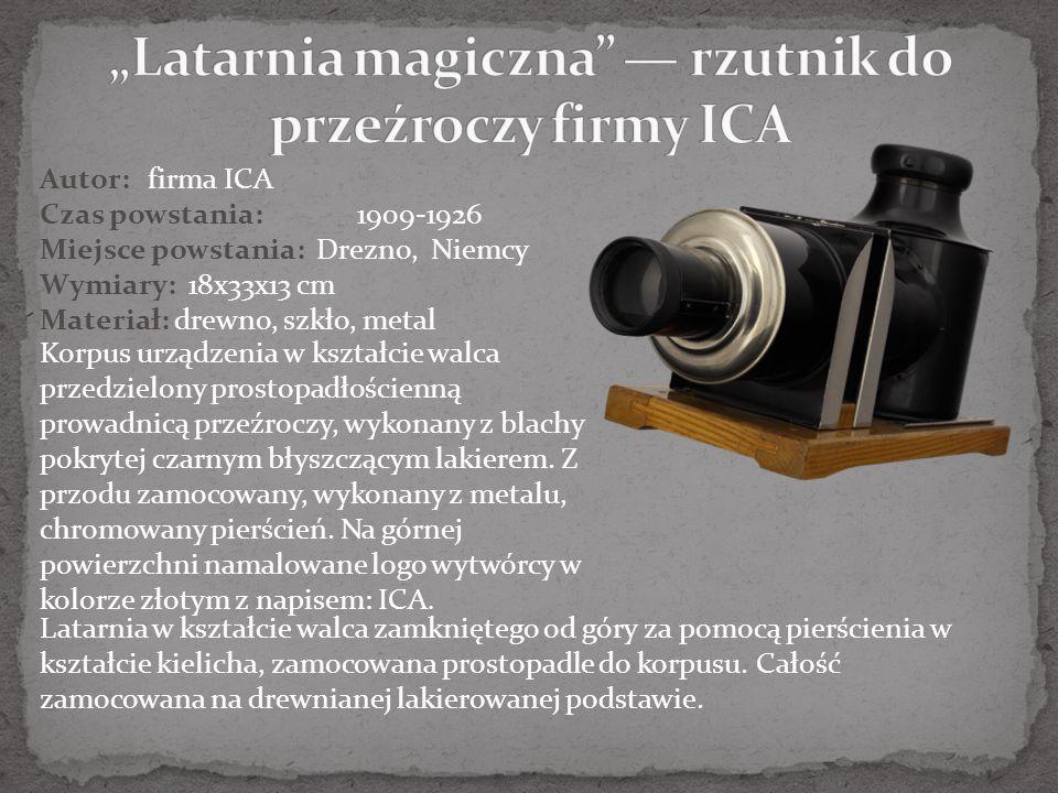 """""""Latarnia magiczna — rzutnik do przeźroczy firmy ICA"""