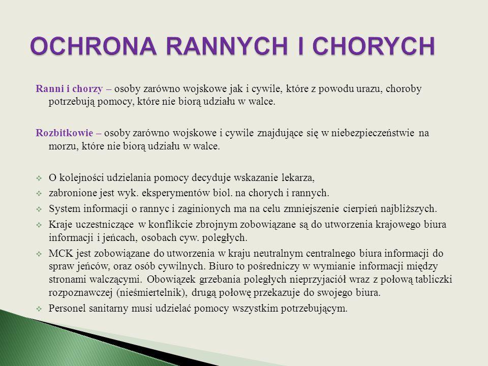 OCHRONA RANNYCH I CHORYCH