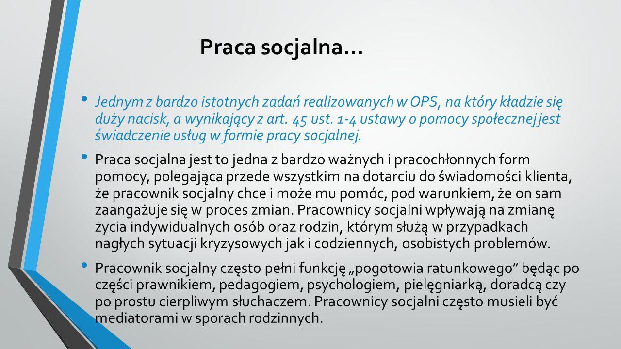 Praca socjalna…