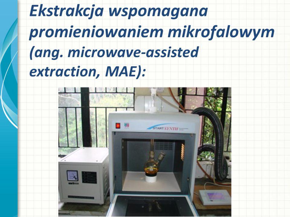 Ekstrakcja wspomagana promieniowaniem mikrofalowym (ang