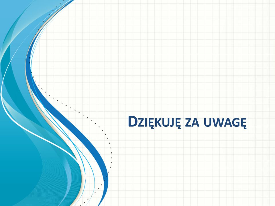 Dziękuję za uwagę This template can be used as a starter file for presenting training materials in a group setting.