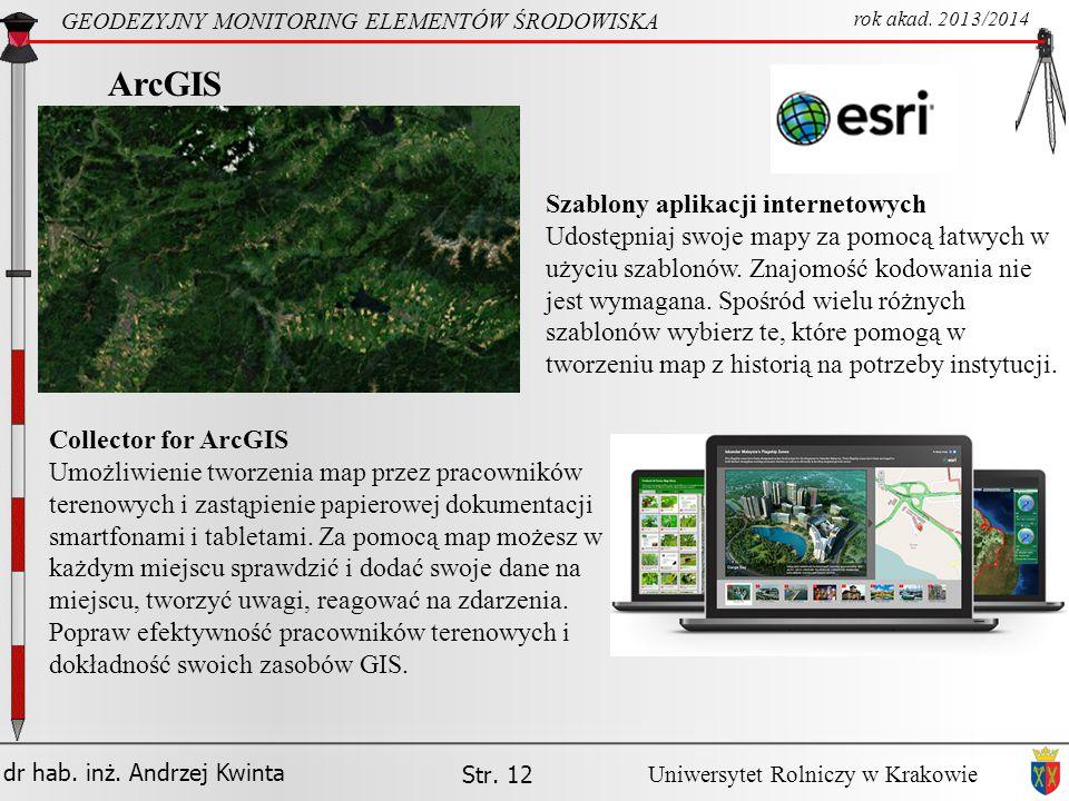 ArcGIS Szablony aplikacji internetowych