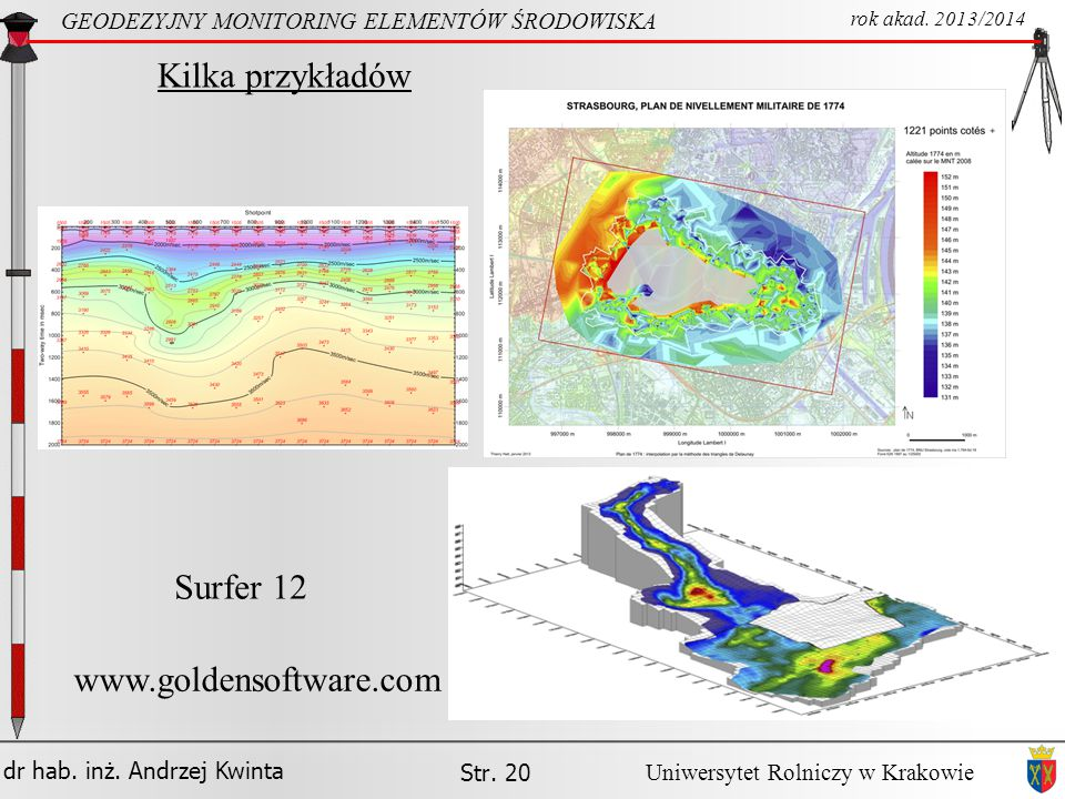 Kilka przykładów Surfer 12 www.goldensoftware.com