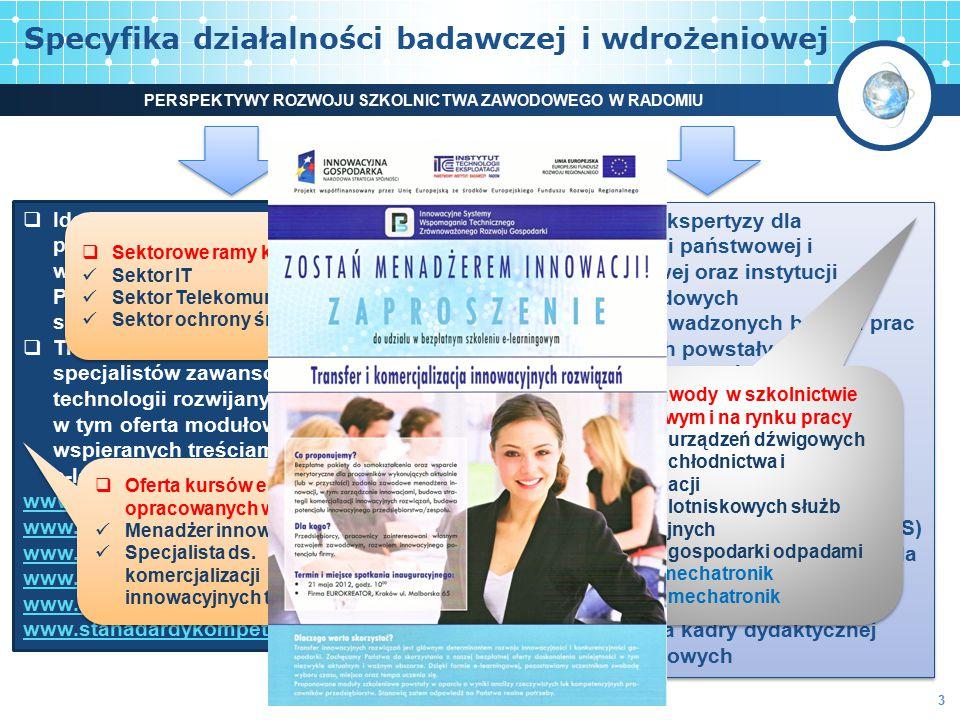 Specyfika działalności badawczej i wdrożeniowej