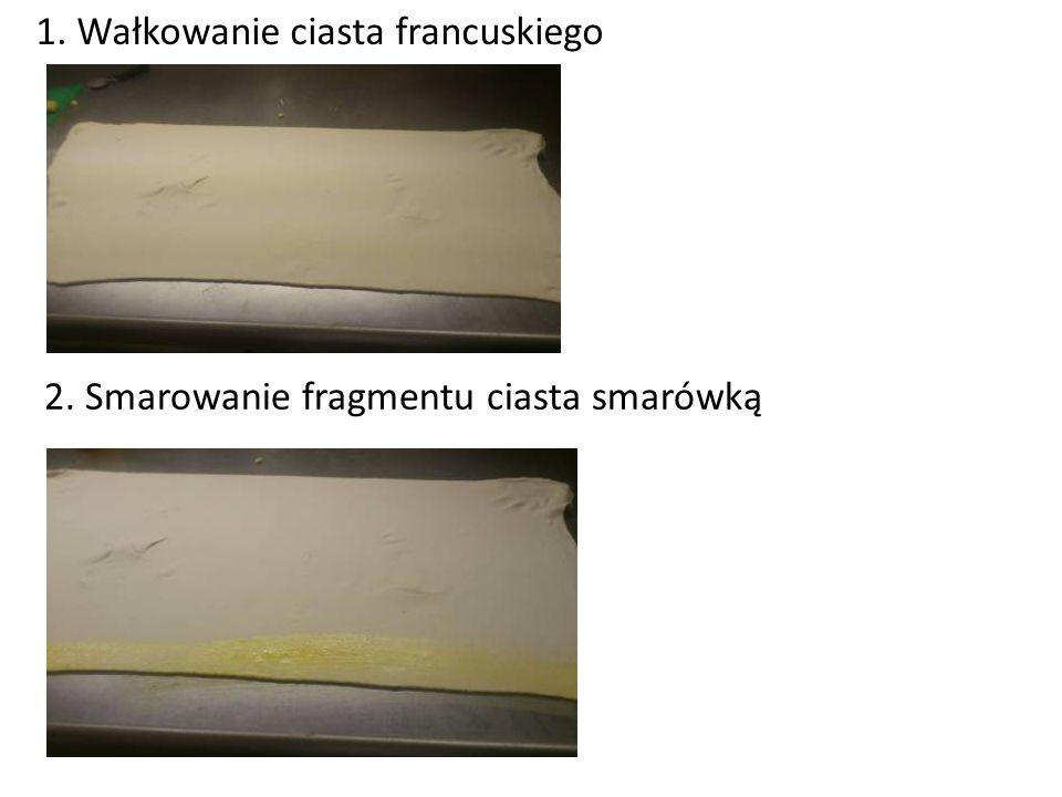 1. Wałkowanie ciasta francuskiego