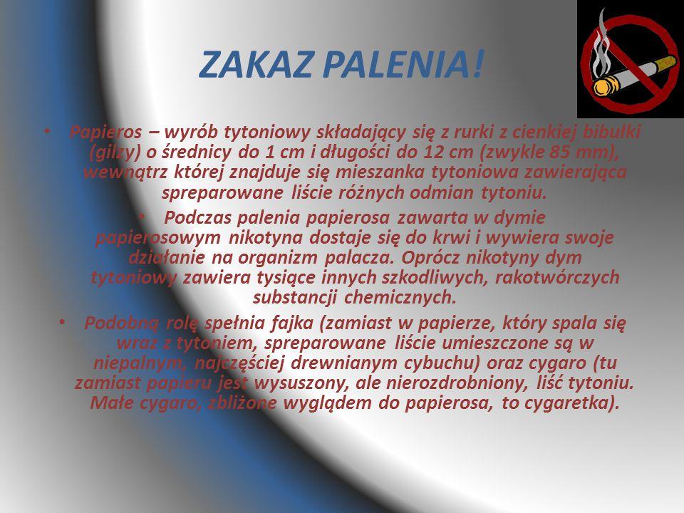 ZAKAZ PALENIA!