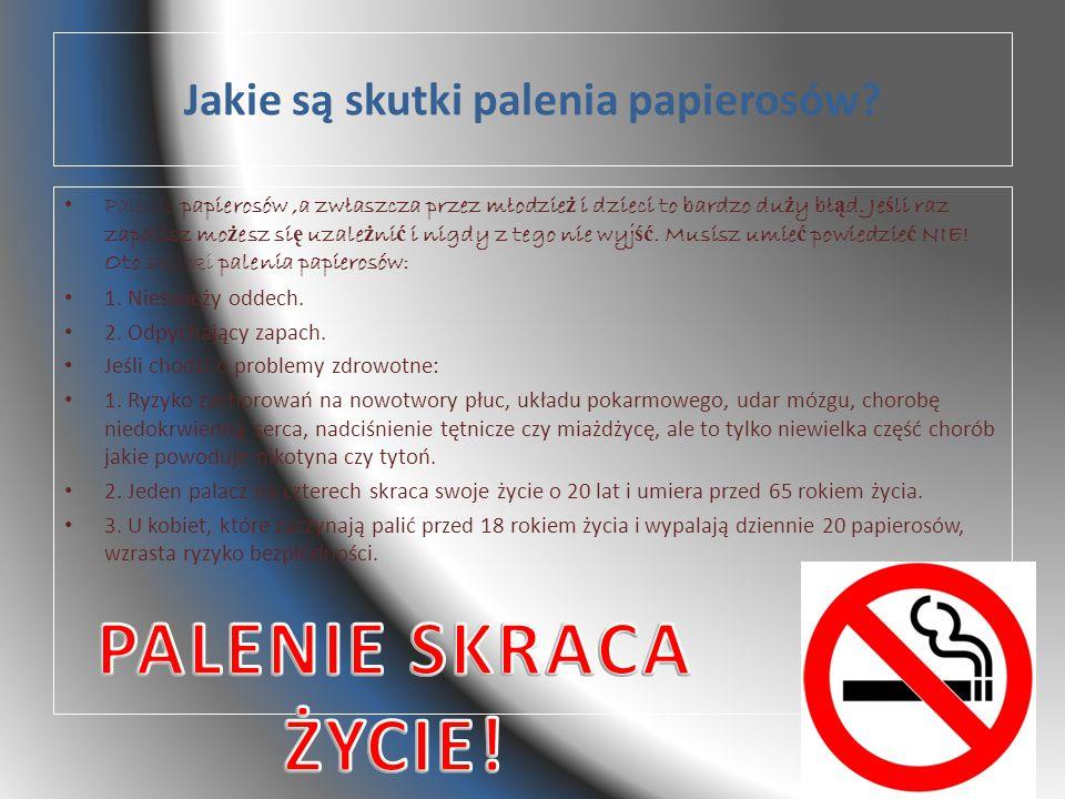 Jakie są skutki palenia papierosów