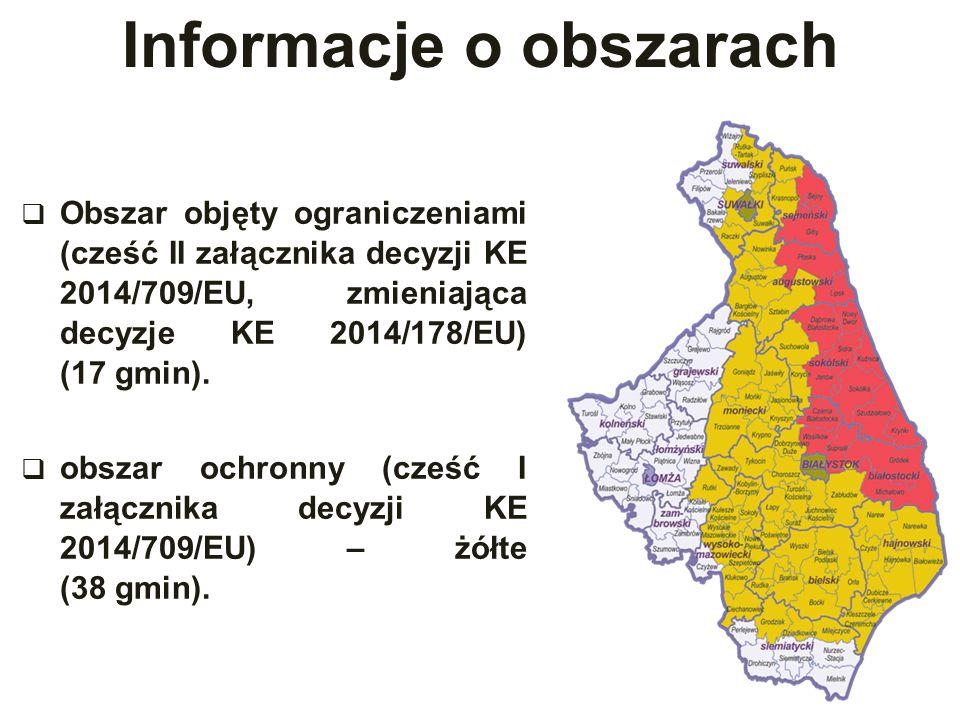Informacje o obszarach