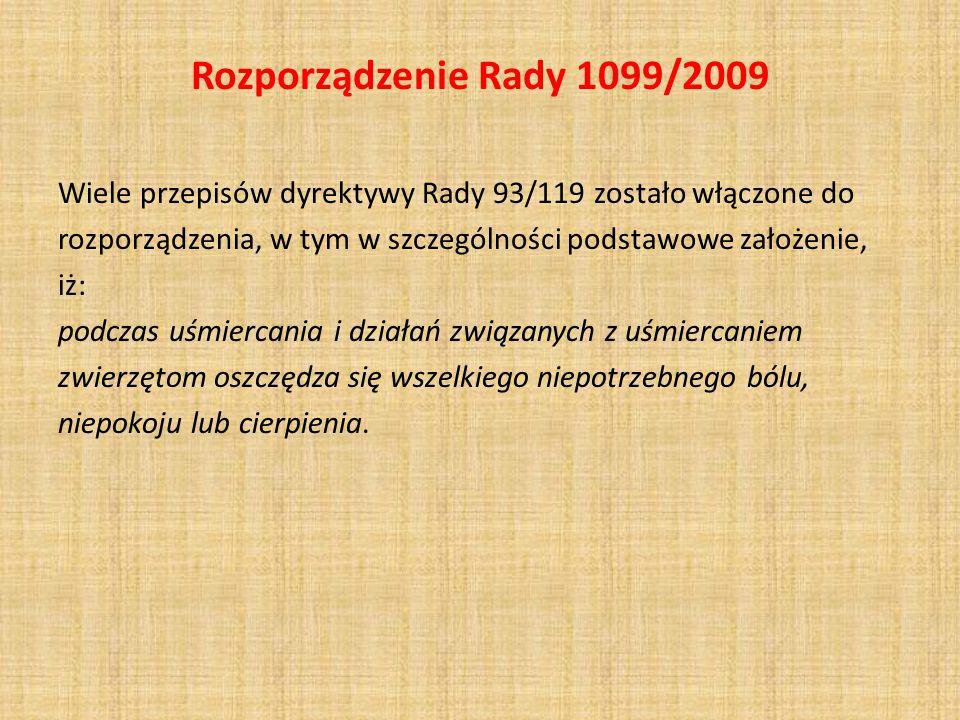 Rozporządzenie Rady 1099/2009