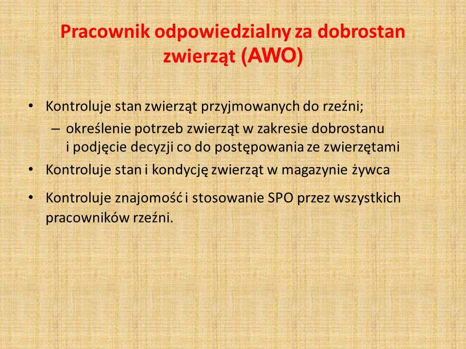 Pracownik odpowiedzialny za dobrostan zwierząt (AWO)