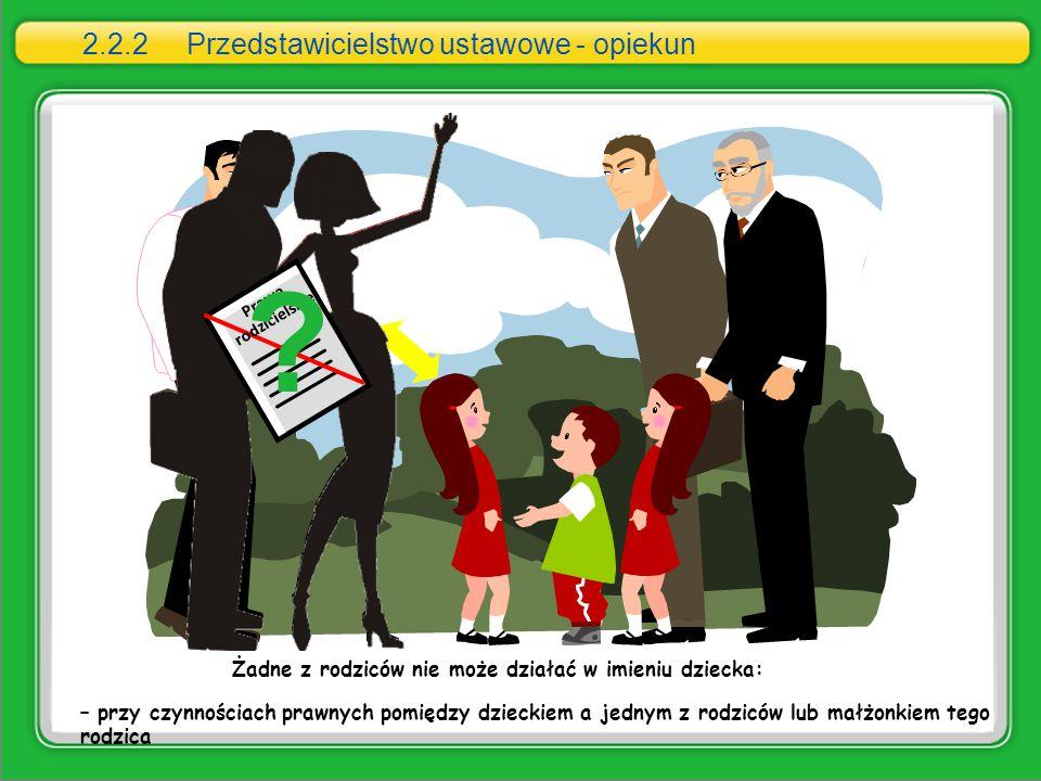 2.2.2 Przedstawicielstwo ustawowe - opiekun